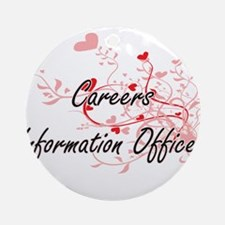 Careers Information Officer Artisti Round Ornament
