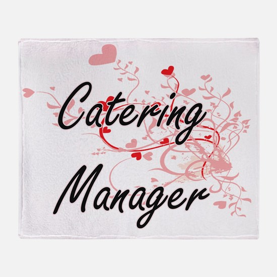 Catering Manager Artistic Job Design Throw Blanket