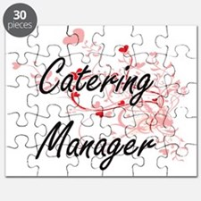 Catering Manager Artistic Job Design with H Puzzle