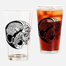 Funny Yin yang Drinking Glass