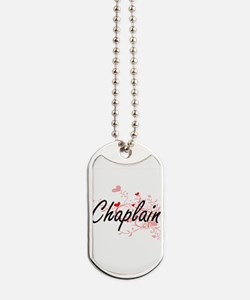Chaplain Artistic Job Design with Hearts Dog Tags