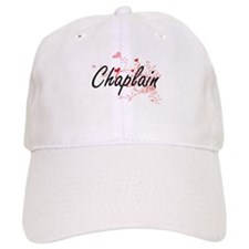 Chaplain Artistic Job Design with Hearts Baseball Baseball Cap
