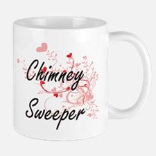 Chimney Sweeper Artistic Job Design with Hear Mugs