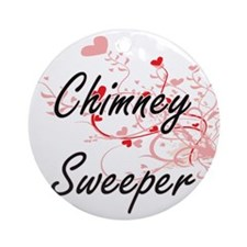 Chimney Sweeper Artistic Job Design Round Ornament