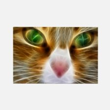 Artistic Cat Rectangle Magnet