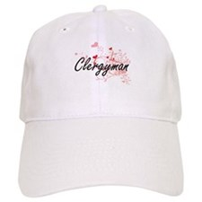 Clergyman Artistic Job Design with Hearts Cap