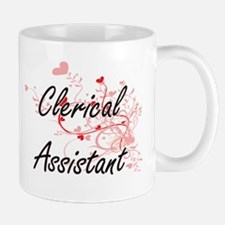 Clerical Assistant Artistic Job Design with H Mugs
