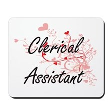 Clerical Assistant Artistic Job Design w Mousepad