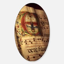 Medieval Manuscript Sticker (Oval)