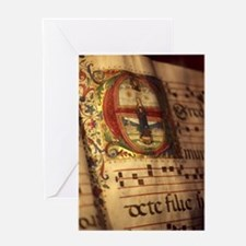 Medieval Manuscript Greeting Card