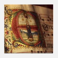 Medieval Manuscript Tile Coaster