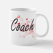 Coach Artistic Job Design with Hearts Mugs