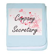 Company Secretary Artistic Job Design baby blanket