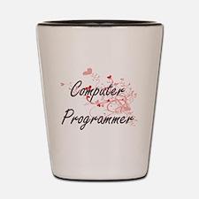 Computer Programmer Artistic Job Design Shot Glass