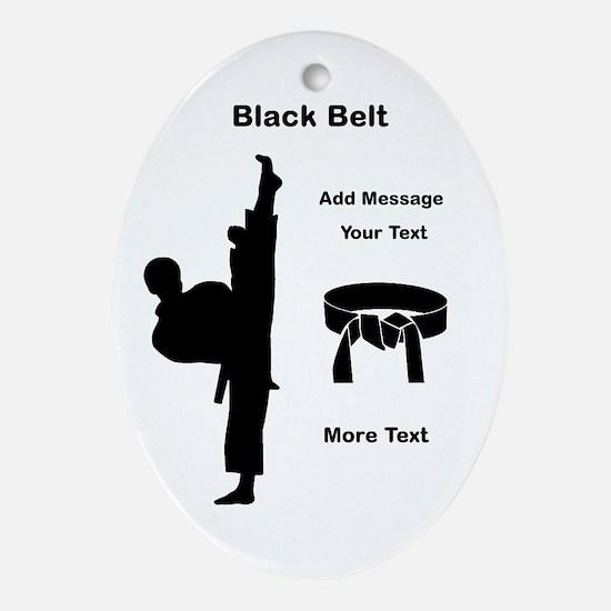 Black Belt Oval Ornament