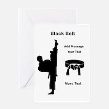 Black Belt Greeting Cards