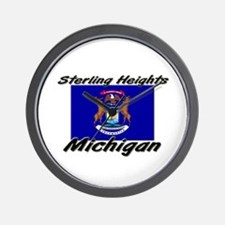 Sterling Heights Michigan Wall Clock