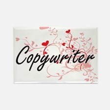 Copywriter Artistic Job Design with Hearts Magnets