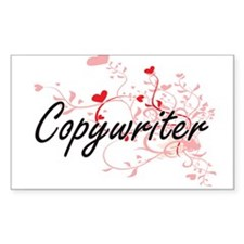 Copywriter Artistic Job Design with Hearts Decal