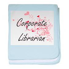 Corporate Librarian Artistic Job Desi baby blanket