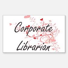 Corporate Librarian Artistic Job Design wi Decal