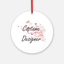 Costume Designer Artistic Job Desig Round Ornament