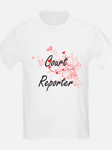 Court Reporter Artistic Job Design with He T-Shirt