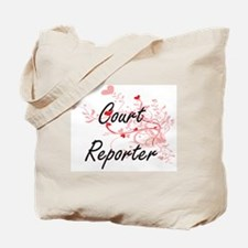 Court Reporter Artistic Job Design with H Tote Bag
