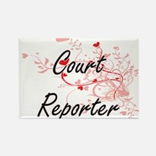 Court Reporter Artistic Job Design with He Magnets