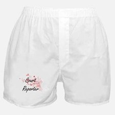 Court Reporter Artistic Job Design wi Boxer Shorts