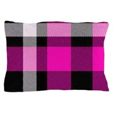 Magenta Plaid 1 Pillow Case