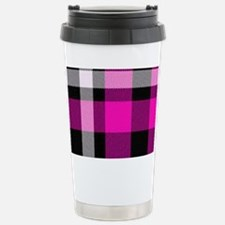 Magenta Plaid 1 Travel Mug