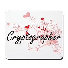 Cryptographer Artistic Job Design with H Mousepad