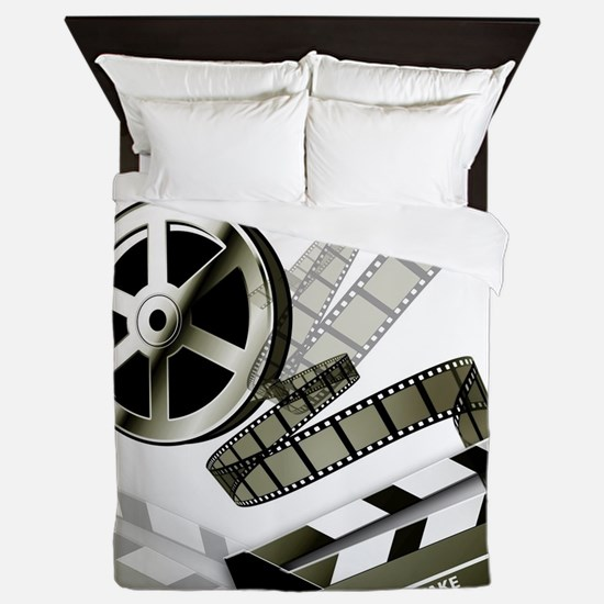 Retro Film Frames Queen Duvet