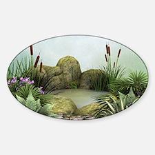 Pretty Pond Sticker (Oval)