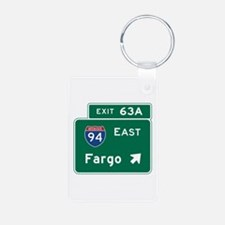 Fargo, ND Road Sign, USA Keychains