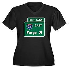 Fargo, ND Ro Women's Plus Size V-Neck Dark T-Shirt