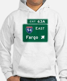Fargo, ND Road Sign, USA Hoodie