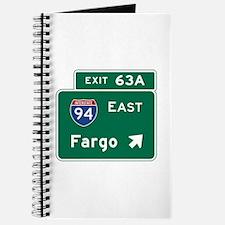 Fargo, ND Road Sign, USA Journal