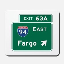 Fargo, ND Road Sign, USA Mousepad