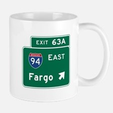 Fargo, ND Road Sign, USA Mug
