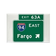 Fargo, ND Road Sign, USA Rectangle Magnet