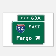 Fargo, ND Road Sign, USA Postcards (Package of 8)