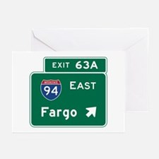 Fargo, ND Road Sign, USA Greeting Cards (Pk of 10)