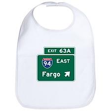 Fargo, ND Road Sign, USA Bib
