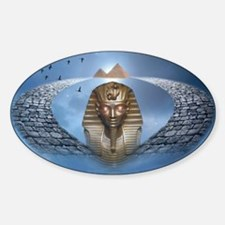 Pharaoh Fantasy Sticker (Oval)