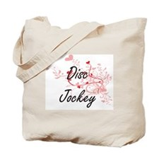 Disc Jockey Artistic Job Design with Hear Tote Bag