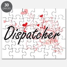 Dispatcher Artistic Job Design with Hearts Puzzle