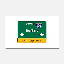 Buffalo, NY Road Sign, USA Car Magnet 20 x 12
