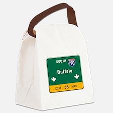 Buffalo, NY Road Sign, USA Canvas Lunch Bag